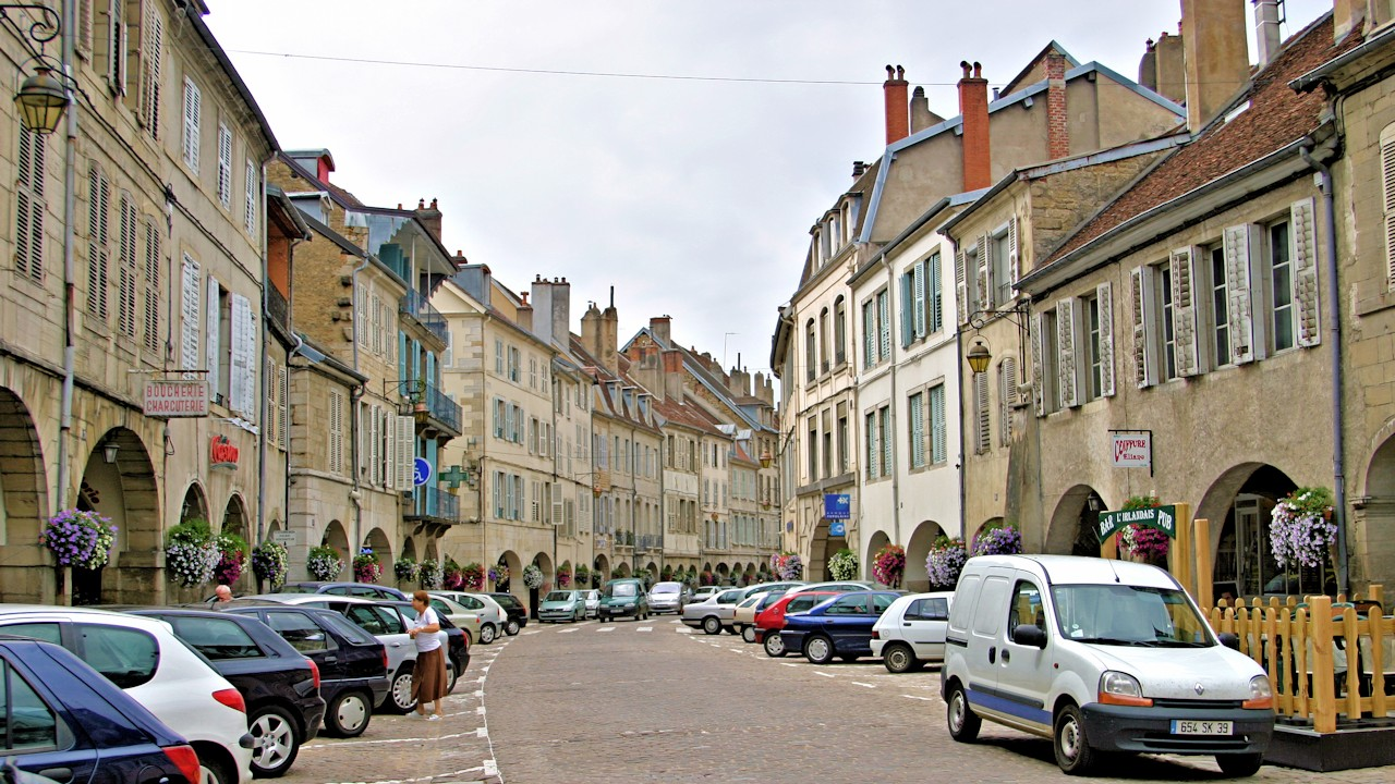 View of city of Lons-le-Saunier