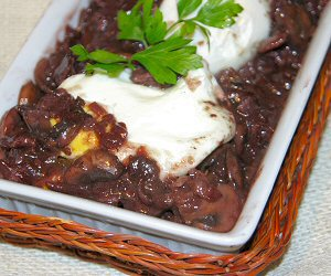 Burgundy specialty appetizer, Poached Eggs in Red Wine Sauce recipe